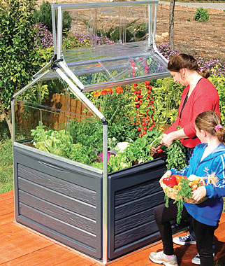 A Complete Solution For Home Vegetable Growing This Mini Greenhouse Is Made Of Unbreakable Polycarbonate Panels That Shelter Your Plants From Cold And Hail